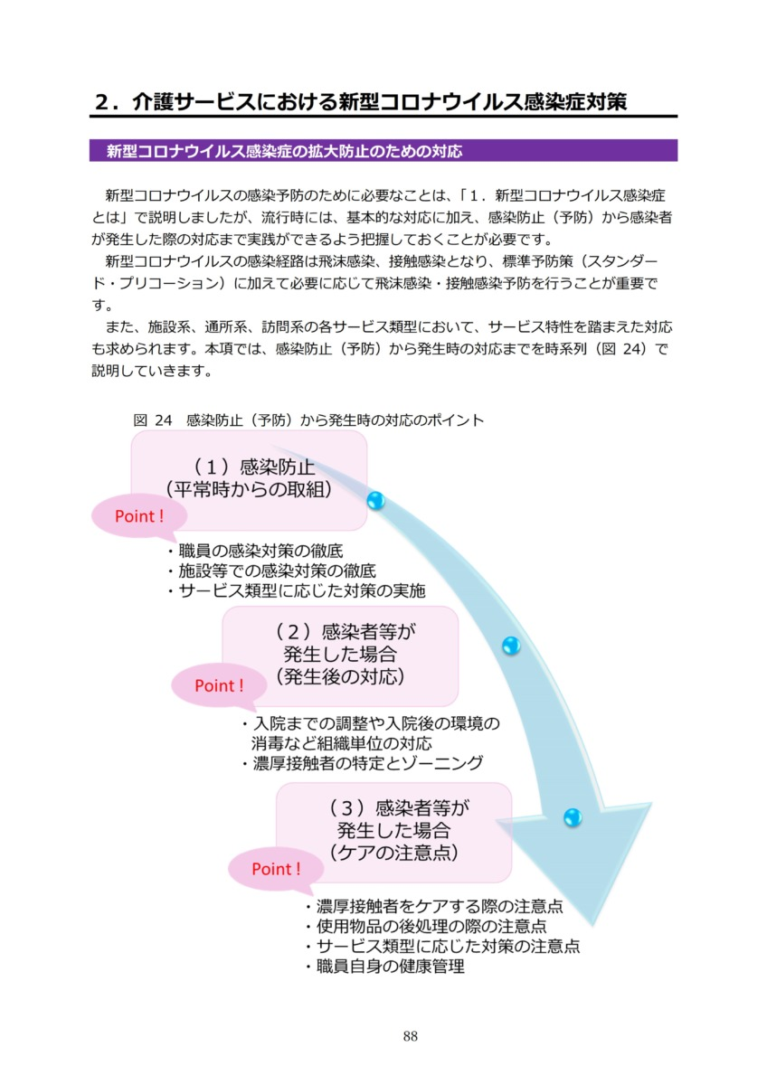 P91 介護現場における感染対策の手引き|厚労省2020/10/1
