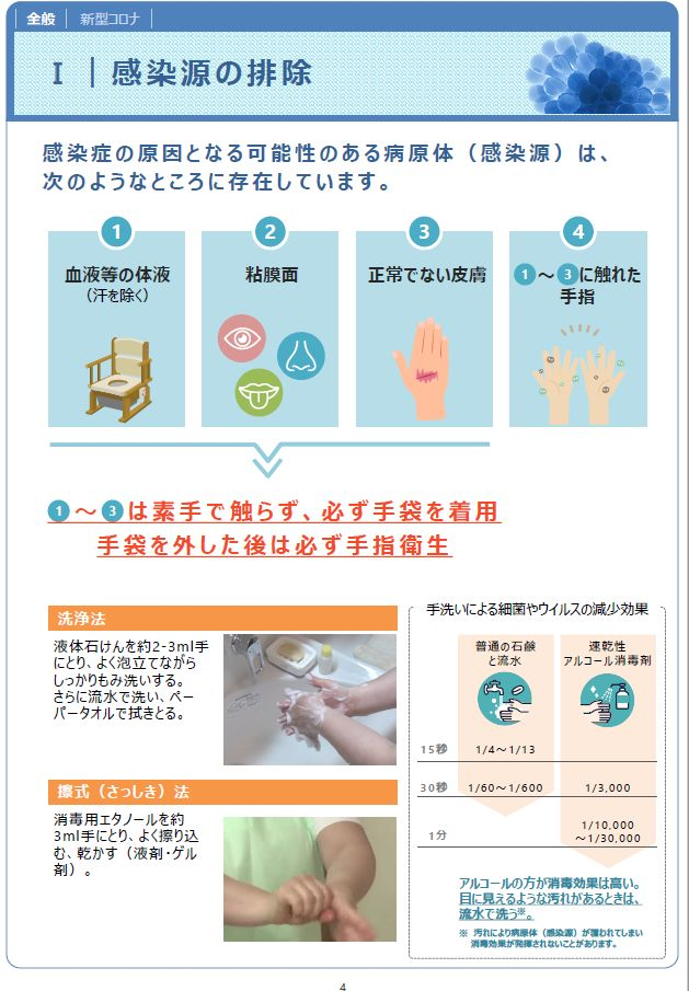介護職員のための感染対策マニュアル(訪問系)P5|20201001厚労省発行