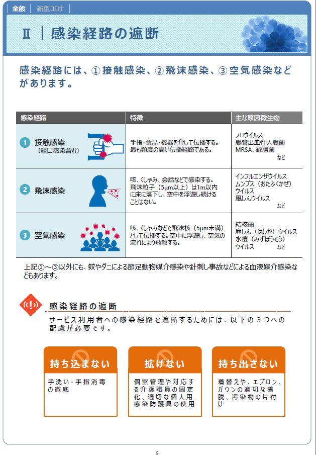 介護職員のための感染対策マニュアル(訪問系)P6|20201001厚労省発行